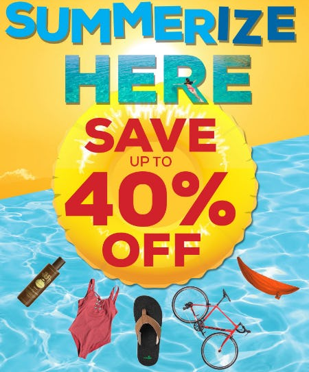 Summerize Here: Save Up to 40% Off Summer Essentials