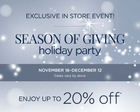 Season of Giving Holiday Party from Bluemercury