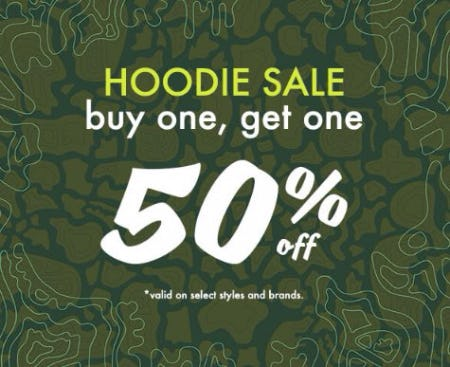 Hoodie Sale Buy One, Get One 50% Off