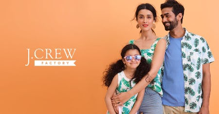 UP TO 50% OFF STOREWIDE AT J.CREW FACTORY! from J.Crew Factory