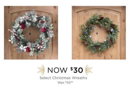$30 Select Christmas Wreaths from Kirkland's Home