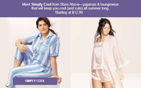Pajamas & Loungewear Starting at $12.99