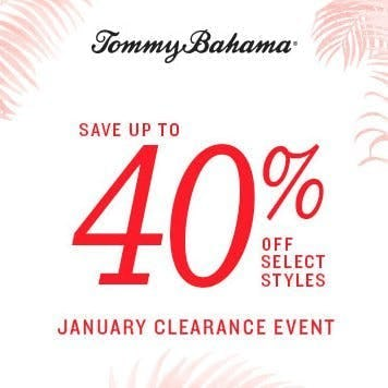 Tommy Bahama Clearance Event