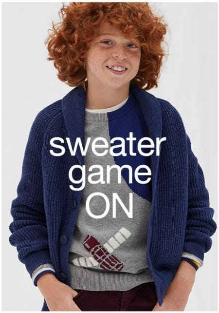 Snuggly Sweaters they Need Now from Gap