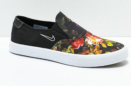 Nike SB Portmore II Solar Floral Slip-On Shoes from Zumiez