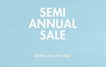 Semi Annual Sale: Extra 25% Off