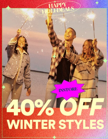 40% Off Winter Styles from Cotton On/Cotton On Kids