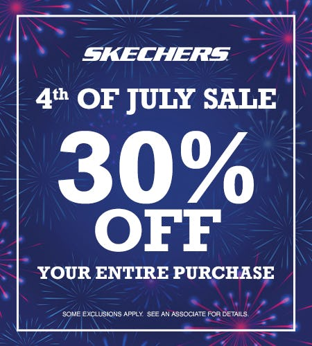4th OF JULY STOREWIDE SALE- 30% OFF YOUR ENTIRE PURCHASE from Skechers