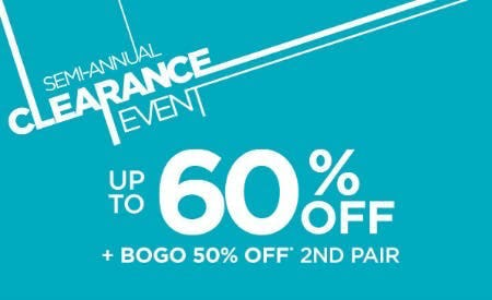 Up to 60% Off Semi-Annual Clearance Event
