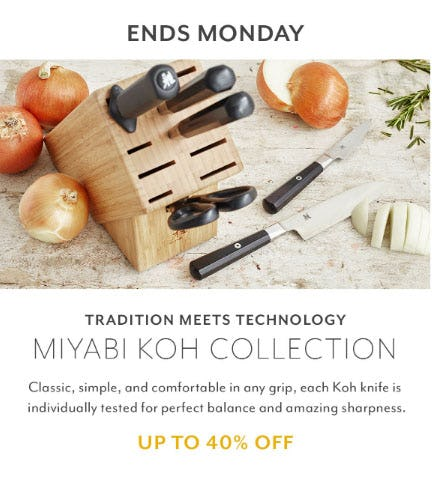 Up to 40% Off Miyabi Koh Collection from Sur La Table