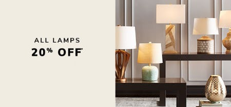 20% Off All Lamps from Pier 1 Imports