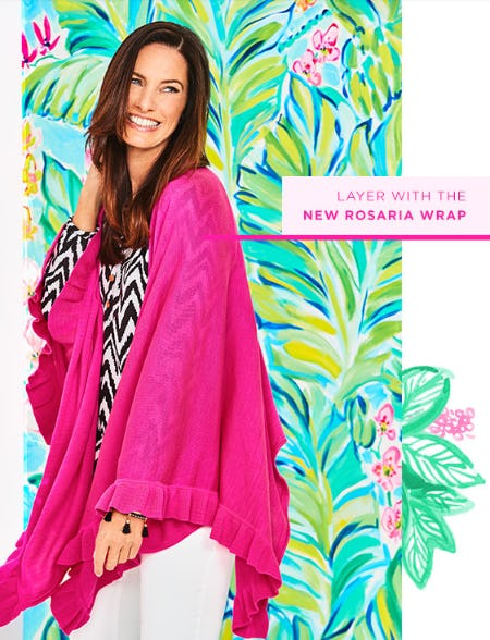 The New Rosaria Wrap from Lilly Pulitzer