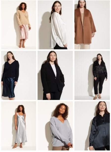 Introducing Extended Sizes from Vince