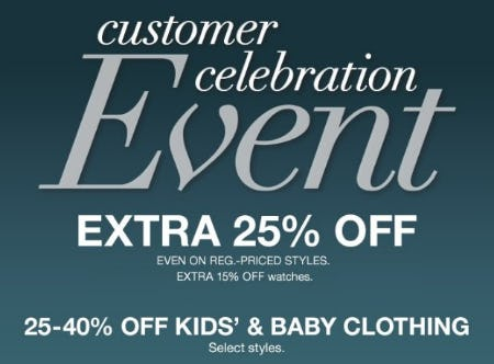 Customer Celebration Event from macy's