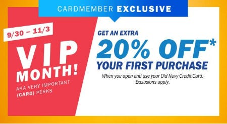 Get an Extra 20% Off Your First Purchase from Old Navy