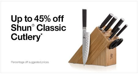 Up to 45% Off Shun Classic Cutlery from Crate & Barrel