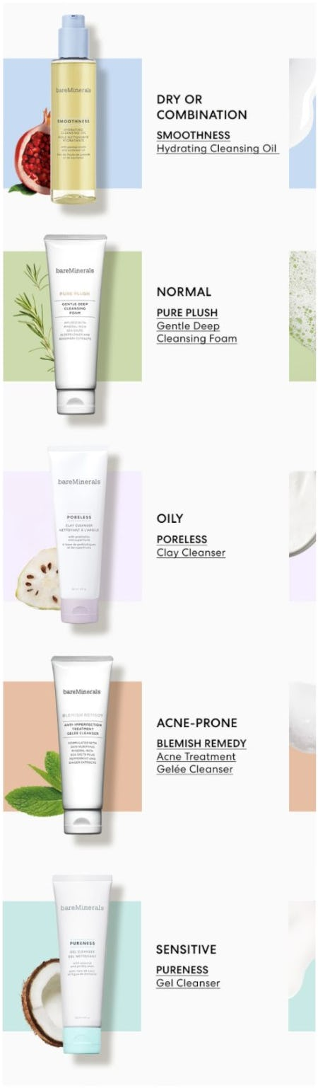 Your Personalized Cleanser Pick from bareMinerals