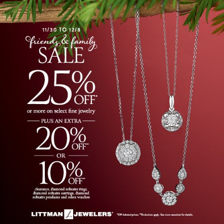 Friends & Family Sale from Littman Jewelers