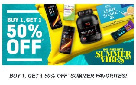 Buy 1, Get 1 50% Off Summer Favorites