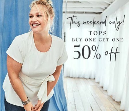 Tops Buy One, Get One 50% Off from Lane Bryant
