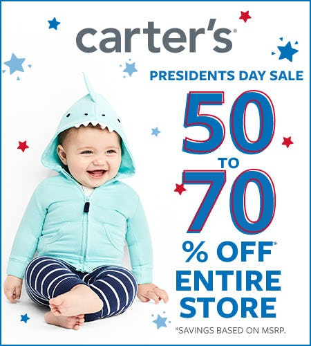 Presidents Day Sale 50 to 70% Off Entire Store*