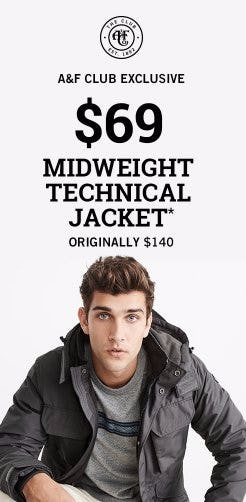 $69 Midweight Technical Jacket