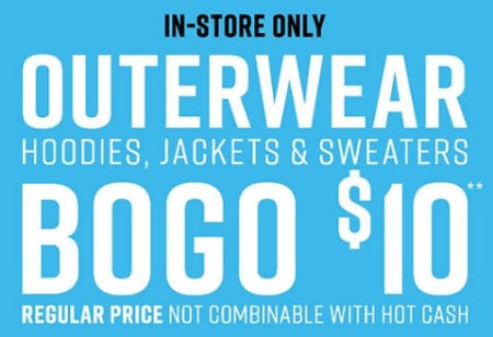 BOGO $10 Outerwear from Hot Topic