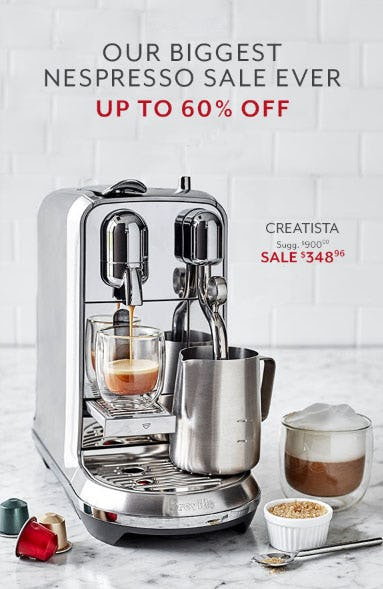 Up to 60% Off Nespresso Sale