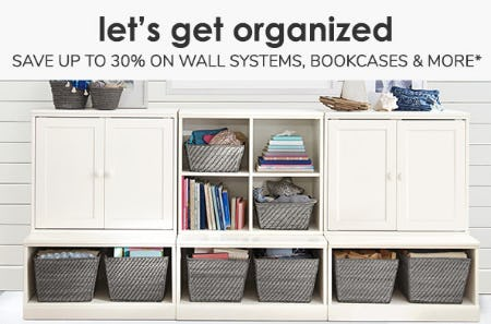 Save up to 30% on Wall Systems, Bookcases & More from Pottery Barn Kids
