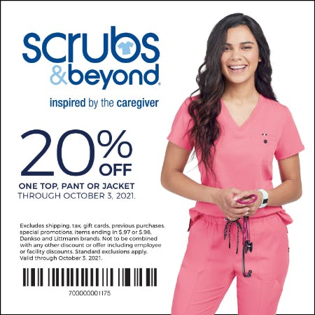 Scrubs and Beyond Fall Coupon from Scrubs & Beyond