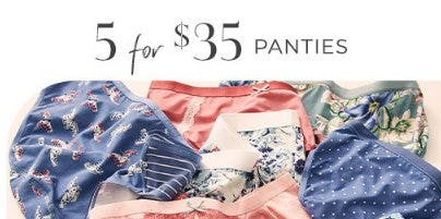 5 for $35 Panties from Lane Bryant