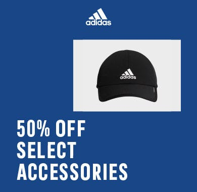 50% off select accessories from Adidas