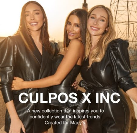 The Newest Collection from CULPOS x INC is Here from macy's