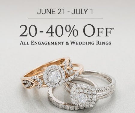 20-40% Off All Engagement & Wedding Rings from Zales Jewelers