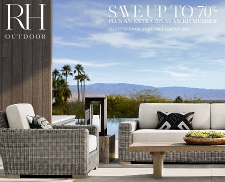 Save Up to 70% on Select Outdoor from Restoration Hardware