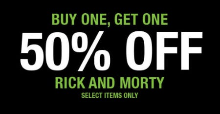 BOGO 50% Off Rick and Morty from Spencer's Gifts
