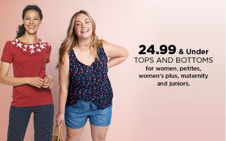$24.99 & Under Tops and Bottoms from Kohl's