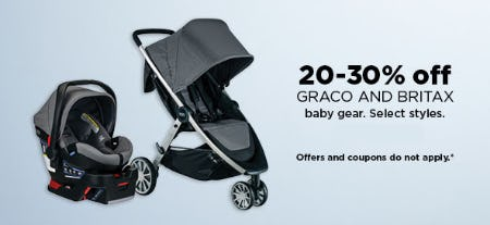 20-30% Off Graco and Britax