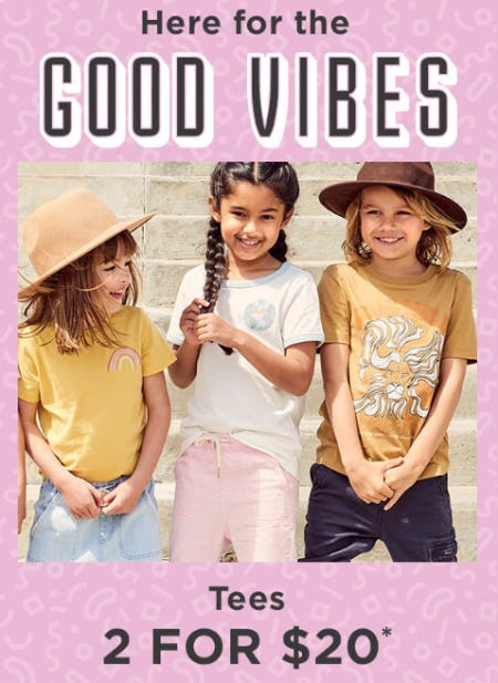 2 for $20 Tees from Cotton On Kids
