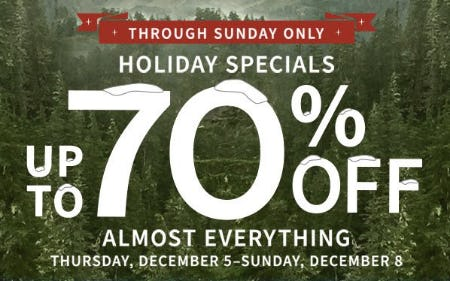 Up to 70% Off Almost Everything