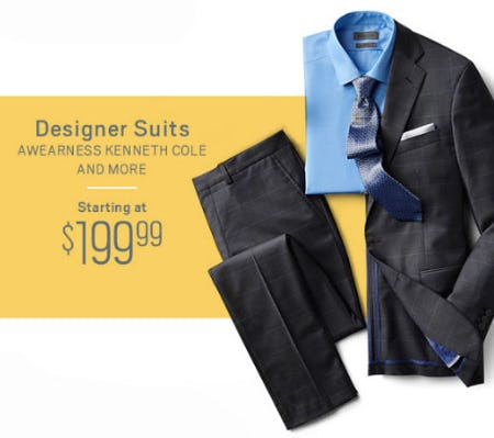 503a896b54ef5 Designer Suits Starting at $199.99 from Men's Wearhouse and Tux