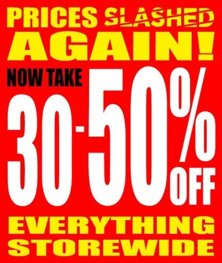 30–50% Off Everything Storewide from Tuesday Morning
