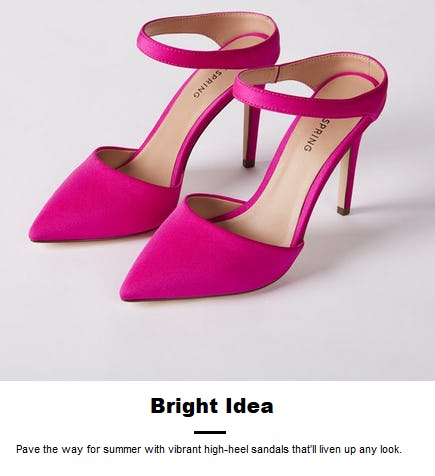 Vibrant High-Heel Sandals from Call It Spring