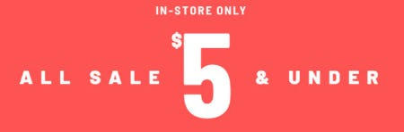 All Sale $5 & Under