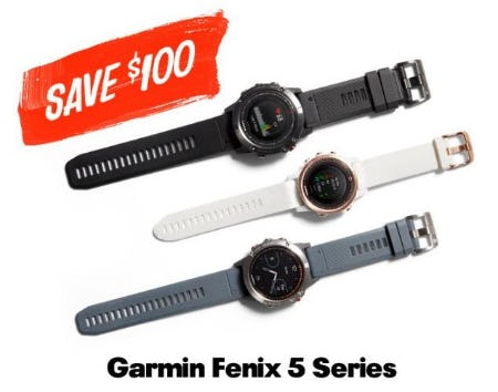 $100 Off Garmin Fenix 5 Series