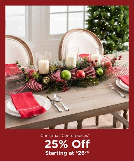 Christmas Centerpieces Starting at $26.24 from Kirkland's