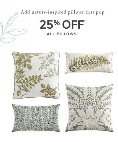 25% Off All Pillows from Pier 1 Imports