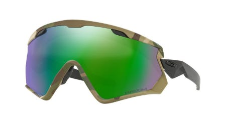 Wind Jacket 2.0 Army Camo Collection Snow Sunglasses from Oakley