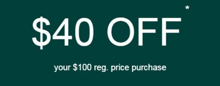 $40 Off Your $100 Reg. Price Purchase from maurices