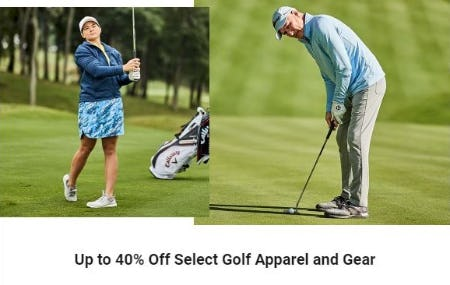 Up to 40% Off Select Golf Apparel and Gear from Dick's Sporting Goods